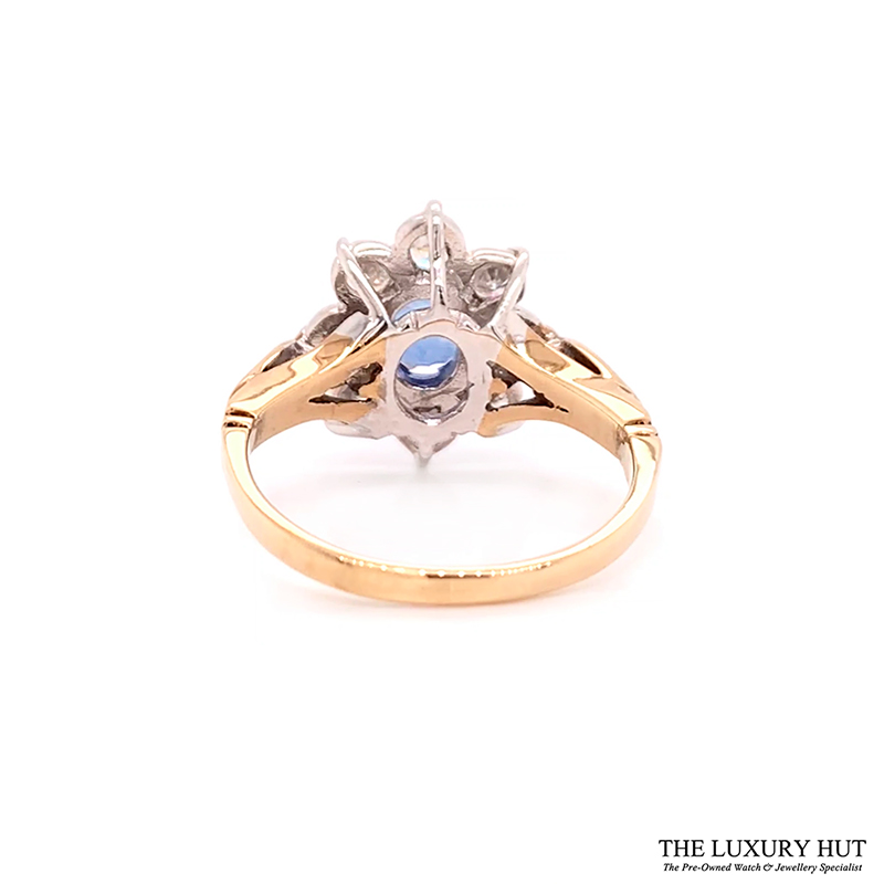 Shop 9ct Gold Certified Diamond & Tanzanite Ring - Order Online Today For Next Day