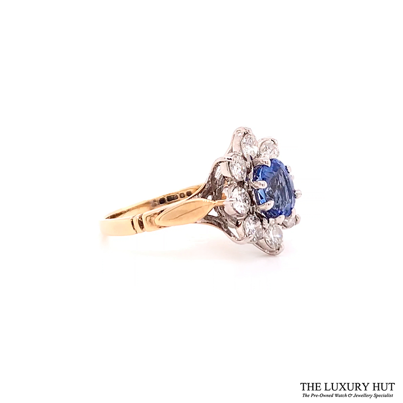 Shop 9ct Gold Certified Diamond & Tanzanite Ring - Order Online Today