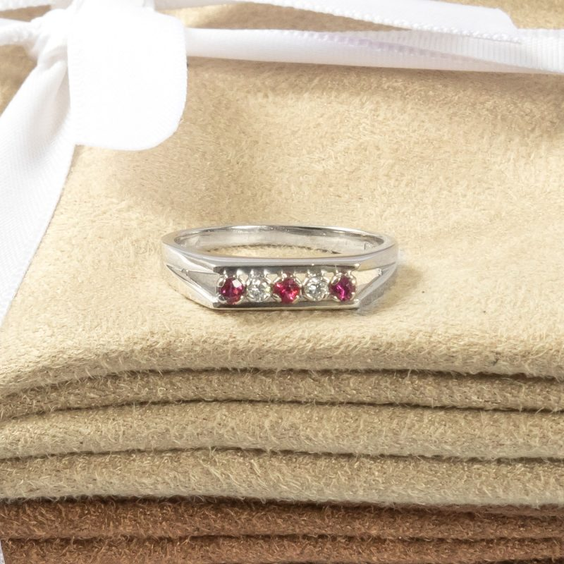 Shop 18CT White Gold Diamond and Ruby Ring - Order Online Today for Next Day Delivery - Sell Your Diamond Ring to The Luxury Hut