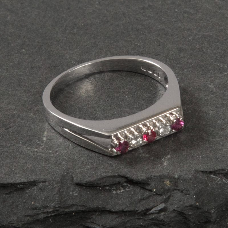 Shop 18CT White Gold Diamond and Ruby Ring - Order Online Today for Next Day Delivery - Sell Your Diamond Ring