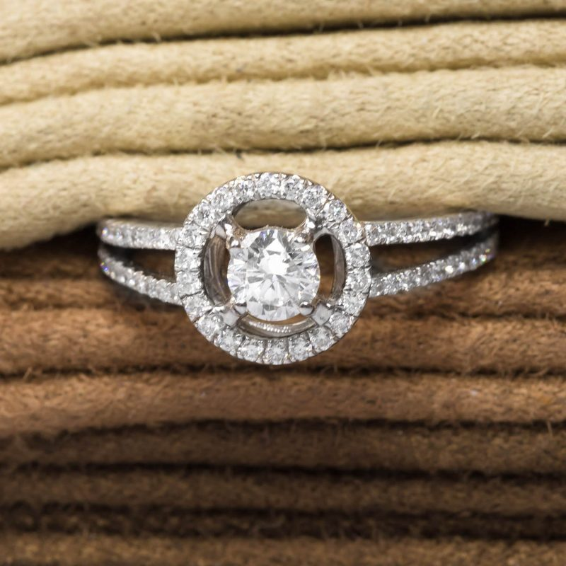 Shop 18ct White Gold Diamond Halo Rings - Order Online Today For Next Day Delivery - Sell Your Diamond Jewellery To The Luxury Hut
