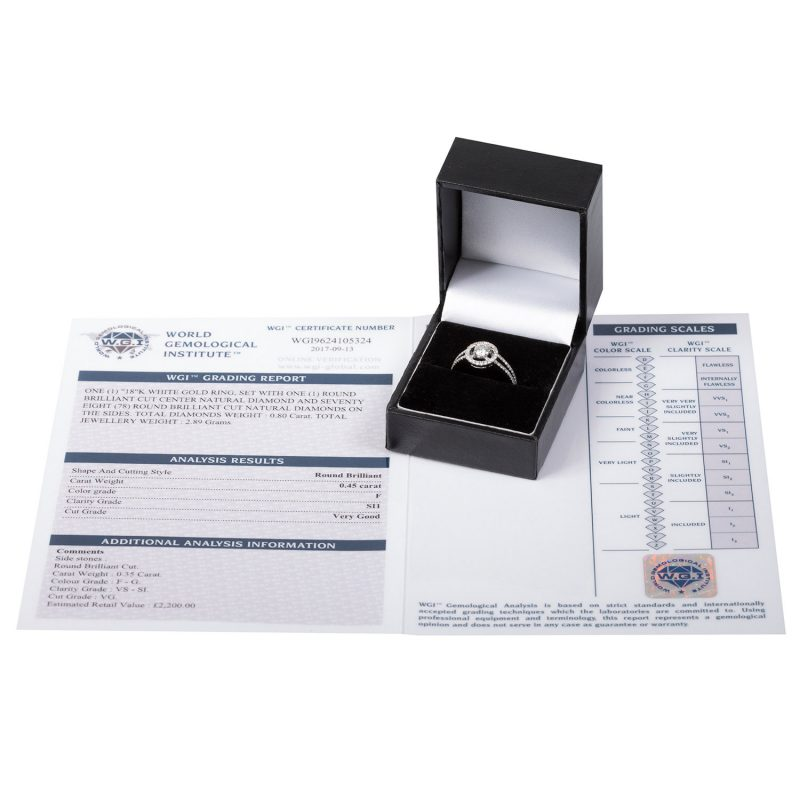 Shop 18ct White Gold Diamond Halo Rings - Order Online Today For Next Day Delivery - Sell Your Diamond Jewellery