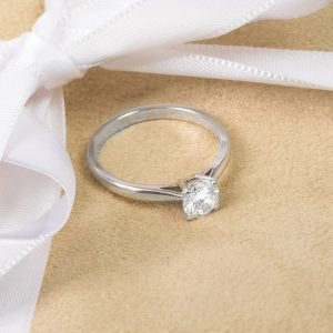 Shop 18ct White Gold Diamond Solitaire Ring - Order Online Today For Next Day Delivery - Sell Your Diamond Jewellery To The Luxury Hut London