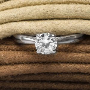 Shop 18ct White Gold Diamond Solitaire Ring - Order Online Today For Next Day Delivery - Sell Your Diamond Jewellery To The Luxury Hut