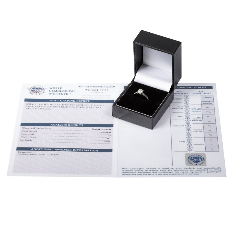 Shop 18ct White Gold Diamond Solitaire Ring - Order Online Today For Next Day Delivery - Sell Your Diamond Jewellery