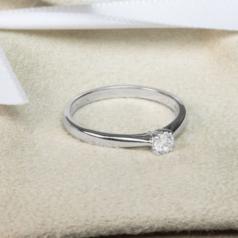 Shop 18ct White Gold Diamond Engagement Ring - Order Online Today For Next Day Delivery