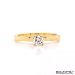 Shop 18ct Yellow Gold Solitaire Diamond Engagement Ring - Order Online Today For Next Day Delivery