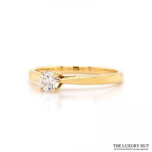 Shop 18ct Yellow Gold Solitaire Diamond Engagement Ring - Order Online Today For Next Day