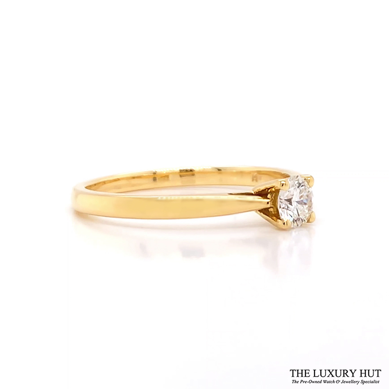 Shop 18ct Yellow Gold Solitaire Diamond Engagement Ring