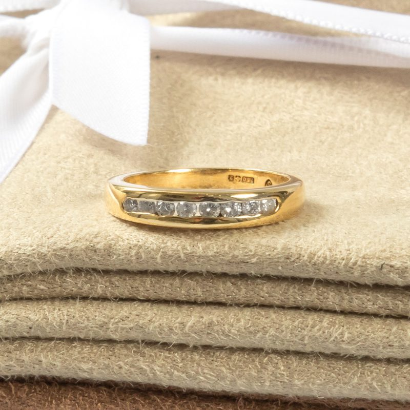 Shop 18CT Yellow Gold Diamond Half Eternity Ring - Order Online Today for Next Day Delivery - Sell Your Diamond Ring