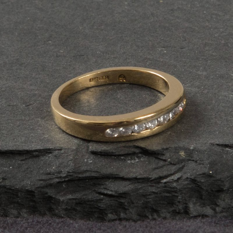 Shop 18CT Yellow Gold Diamond Half Eternity Ring - Order Online Today for Next Day Delivery