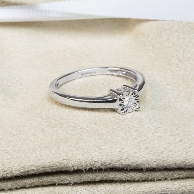 Shop 9ct White Gold Diamond Engagement Ring - Order Online Today For Next Day Delivery