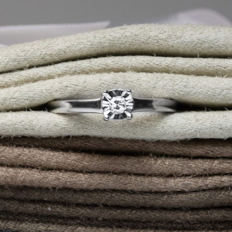 Shop 9ct White Gold Diamond Engagement Ring - Order Online Today For Next Day