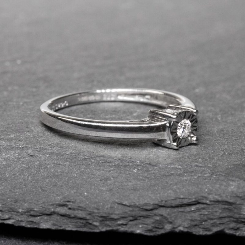 Shop 9ct White Gold Diamond Engagement Ring - Order Online Today