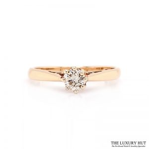 Shop 9ct Yellow Gold Diamond Solitaire Ring - Order Online Today for Next Day Delivery