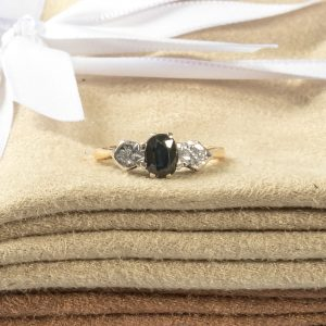 Shop 18CT Yellow & White Gold Ladies Diamond & Sapphire Ring - Order Online Today for Next Day Delivery - Sell Your Diamond Jewellery