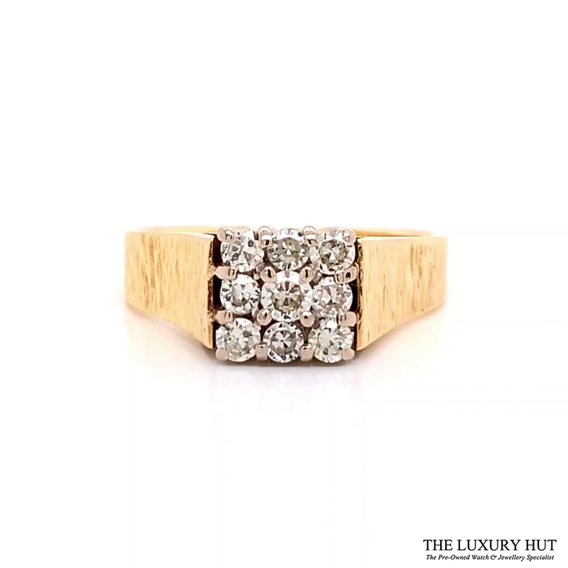 Shop 18CT Yellow Gold Diamond Cluster Ring - Order Online Today for Next Day Delivery - Sell Your Jewellery to the Luxury Hut London