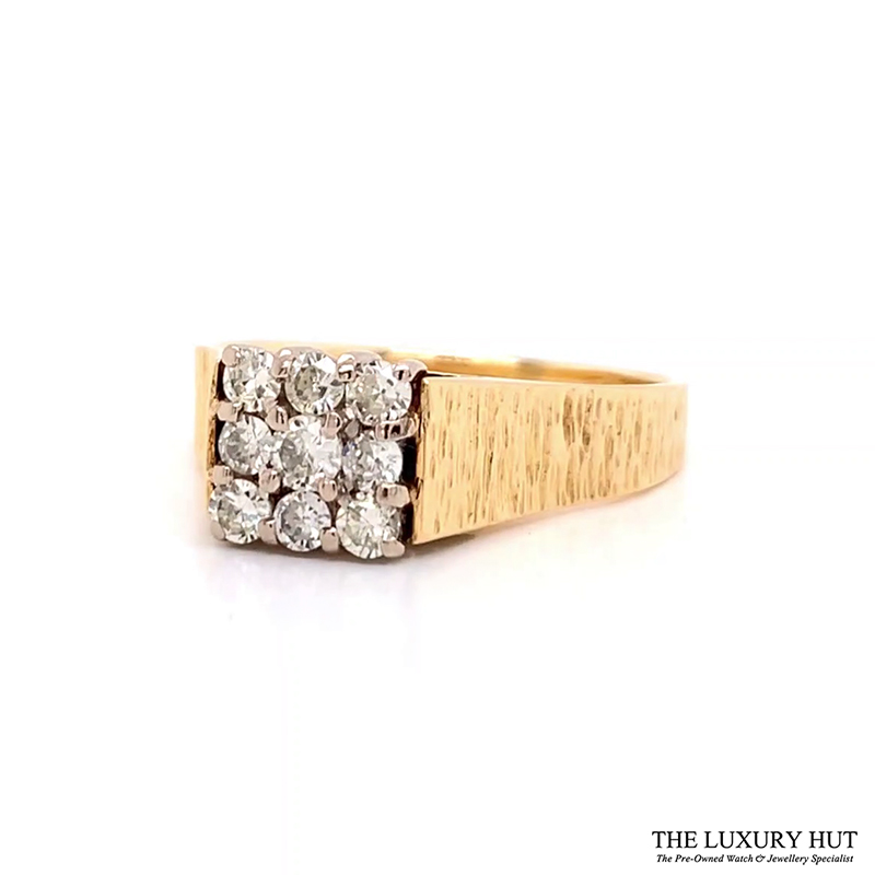 Shop 18CT Yellow Gold Diamond Cluster Ring - Order Online Today for Next Day Delivery - Sell Your Jewellery to the Luxury Hut