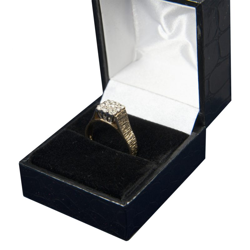Shop 18CT Yellow Gold Diamond Cluster Ring - Order Online Today for Next Day