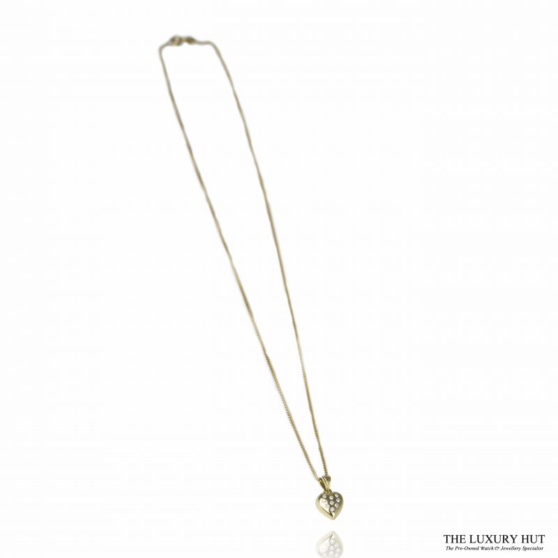 Shop 18ct Yellow Gold & Diamond Heart Pendant with Chain - Order Online