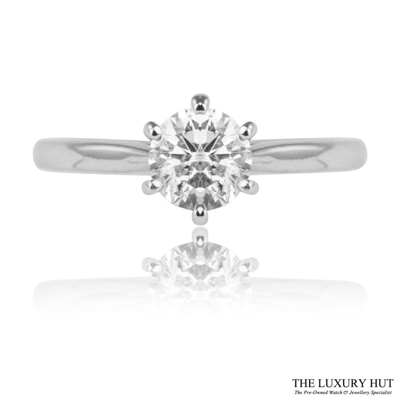 Shop 18ct White Gold 0.74ct Diamond Engagement Ring - Order Online Today For Next Day Delivery