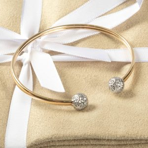 Shop 10ct Yellow & White Gold Bangle - Order Online Today For Next Day Delivery – Sell Your Scrap Gold To Us At The Luxury Hut London