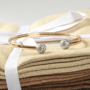Shop 10ct Yellow & White Gold Bangle - Order Online Today For Next Day Delivery – Sell Your Scrap Gold To Us