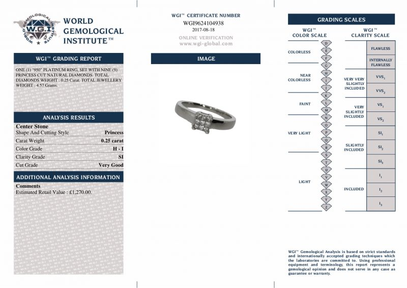 Shop Platinum Pre-Owned Diamond Rings - Order Online Today Delivery