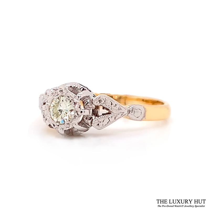 Shop Platinum & 18ct Yellow Gold 0.18ct Diamond Ring - Order Online Today For Next Day