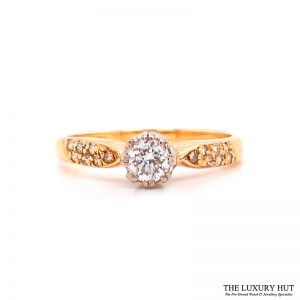 Shop 18ct Yellow Gold Diamond Engagement Ring - Order Online Today For Next Day Delivery