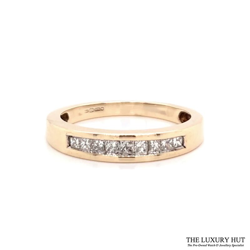 Shop 9CT Gold Half Eternity Diamond Ring - Order Online Today for Next Day Delivery - Sell Your Diamond Jewellery to the Luxury Hut