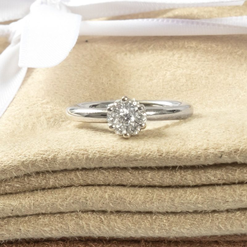 Shop 9CT White Gold Diamond Engagement Ring - Order Online Today for Next Day Delivery - Sell Your Old Jewellery to the Luxury Hut