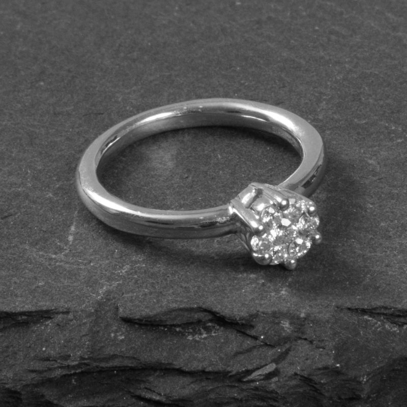 Shop 9CT White Gold Diamond Engagement Ring - Order Online Today for Next Day Delivery - Sell Your Old Jewellery