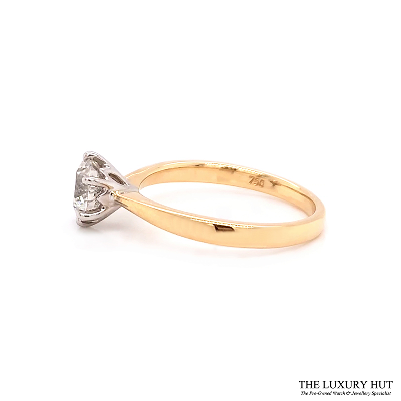 18ct White Gold 0.92ct Diamond Solitaire Engagement Ring Order Online Today For Next Day Delivery - Sell