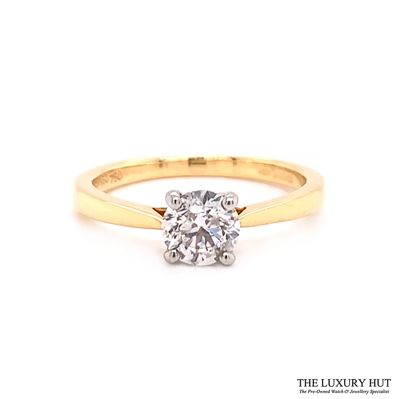 Platinum & 18ct Yellow Gold 0.71ct Diamond Engagement Ring Order Online Today For Next Day Delivery - Sell Your Diamond Ring To The Luxury Hut London