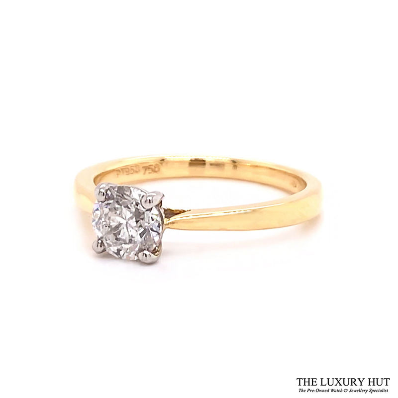 Platinum & 18ct Yellow Gold 0.71ct Diamond Engagement Ring Order Online Today For Next Day Delivery - Sell Your Diamond Ring To The Luxury Hut