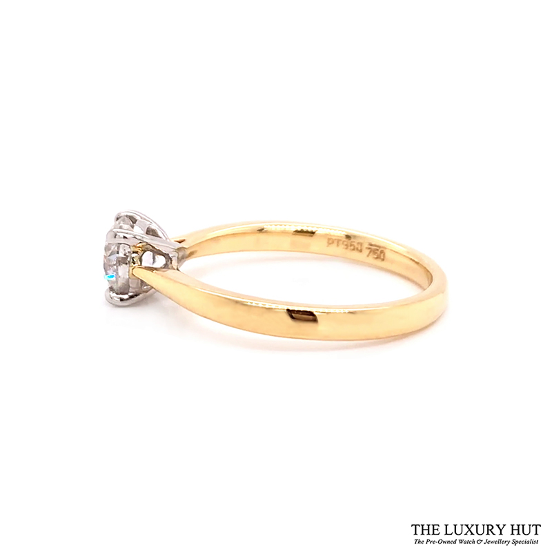 Platinum & 18ct Yellow Gold 0.71ct Diamond Engagement Ring Order Online Today For Next Day Delivery - Sell