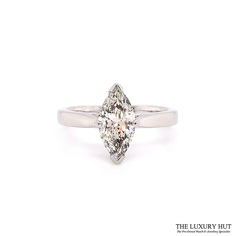 Platinum 1.28ct Marquise Cut Diamond Solitaire Engagement Ring Order Online Today For Next Day Delivery - Sell Your Diamond Ring To The Luxury Hut London