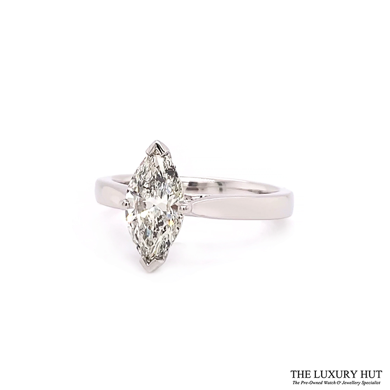 Platinum 1.28ct Marquise Cut Diamond Solitaire Engagement Ring Order Online Today For Next Day Delivery - Sell Your Diamond Ring To The Luxury Hut