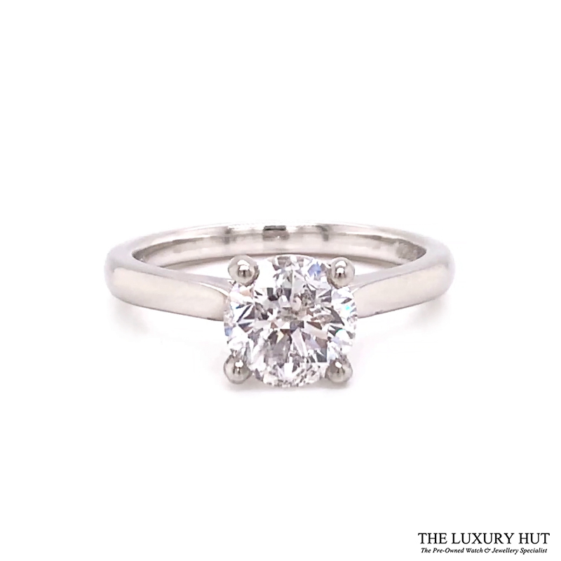 Platinum 1.50ct Brilliant Cut Diamond Solitaire Engagement Ring Order Online Today For Next Day Delivery - Sell Your Diamond Ring To The Luxury Hut London