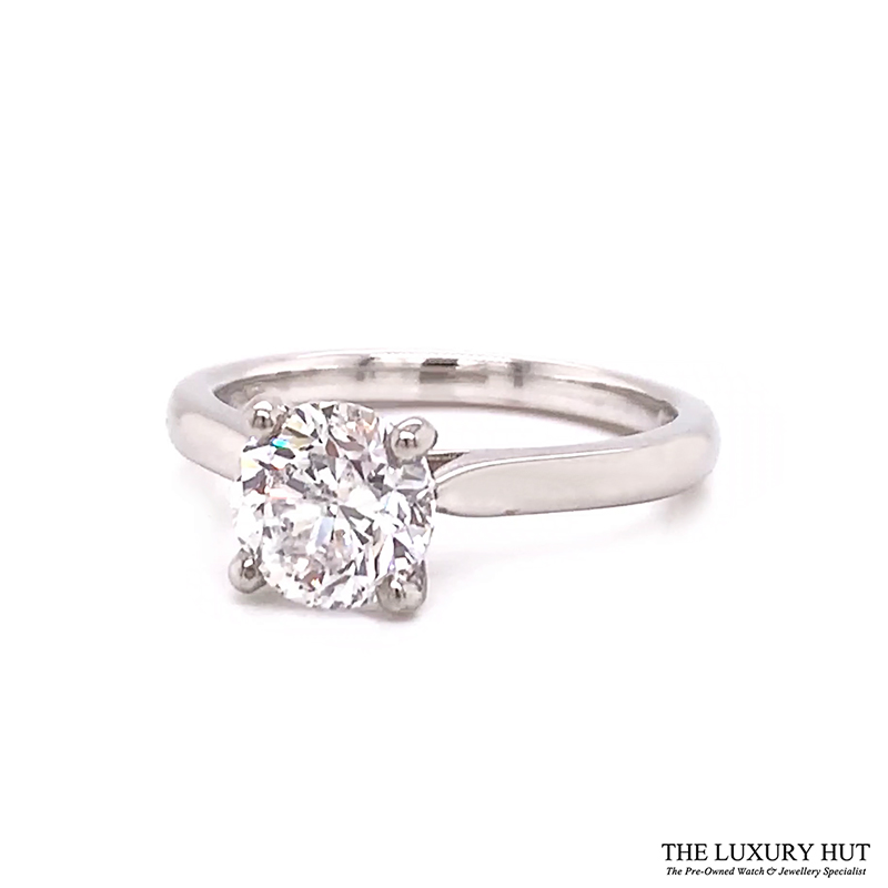 Platinum 1.50ct Brilliant Cut Diamond Solitaire Engagement Ring Order Online Today For Next Day Delivery - Sell Your Diamond Ring To The Luxury Hut
