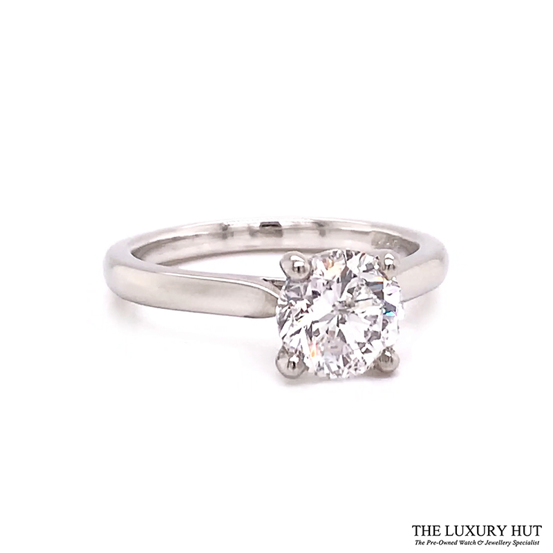 Platinum 1.50ct Brilliant Cut Diamond Solitaire Engagement Ring Order Online