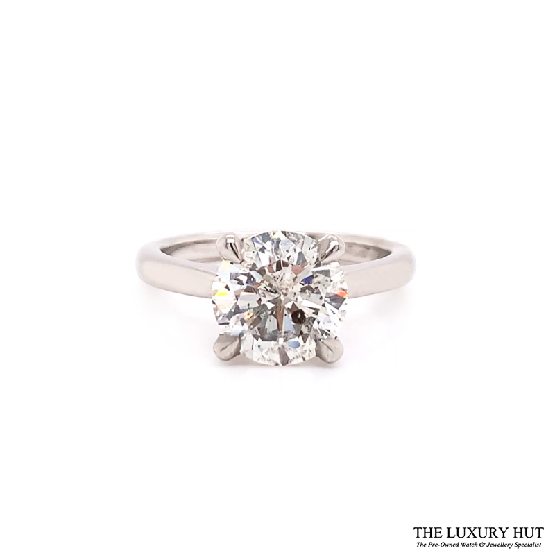 Platinum 1.69ct Princess Cut Diamond Solitaire Engagement Ring Order Online Today For Next Day Delivery - Sell Your Diamond Ring To The Luxury Hut London