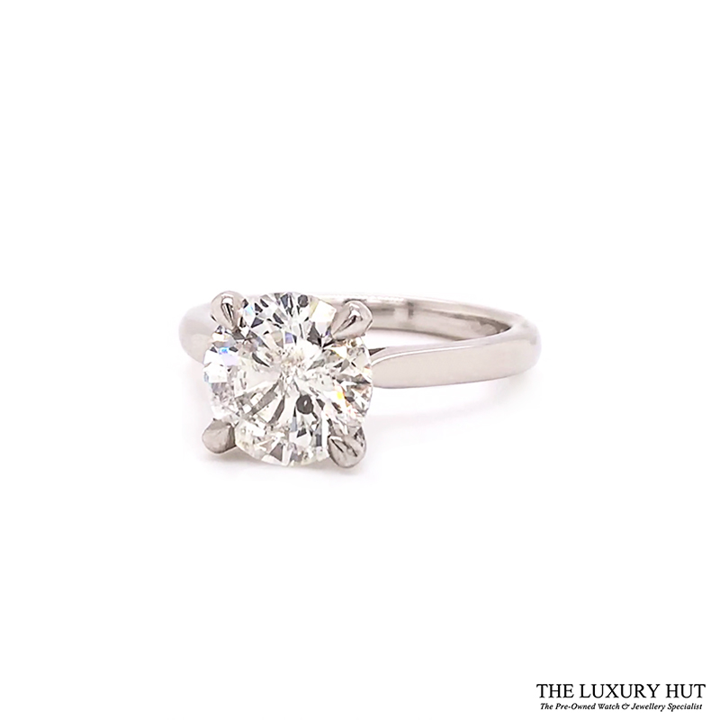 Platinum 1.69ct Princess Cut Diamond Solitaire Engagement Ring Order Online Today For Next Day Delivery - Sell Your Diamond Ring To The Luxury Hut