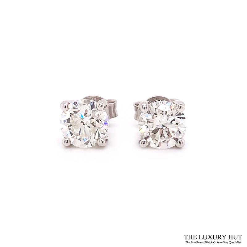 ct White Gold 2.21ct Brilliant Cut Diamond Earrings Order Online Today For Next Day Delivery - Sell Your Diamond Earrings To The Luxury Hut London