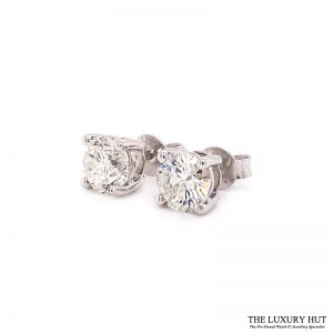 ct White Gold 2.21ct Brilliant Cut Diamond Earrings Order Online Today For Next Day Delivery - Sell Your Diamond Earrings To The Luxury Hut