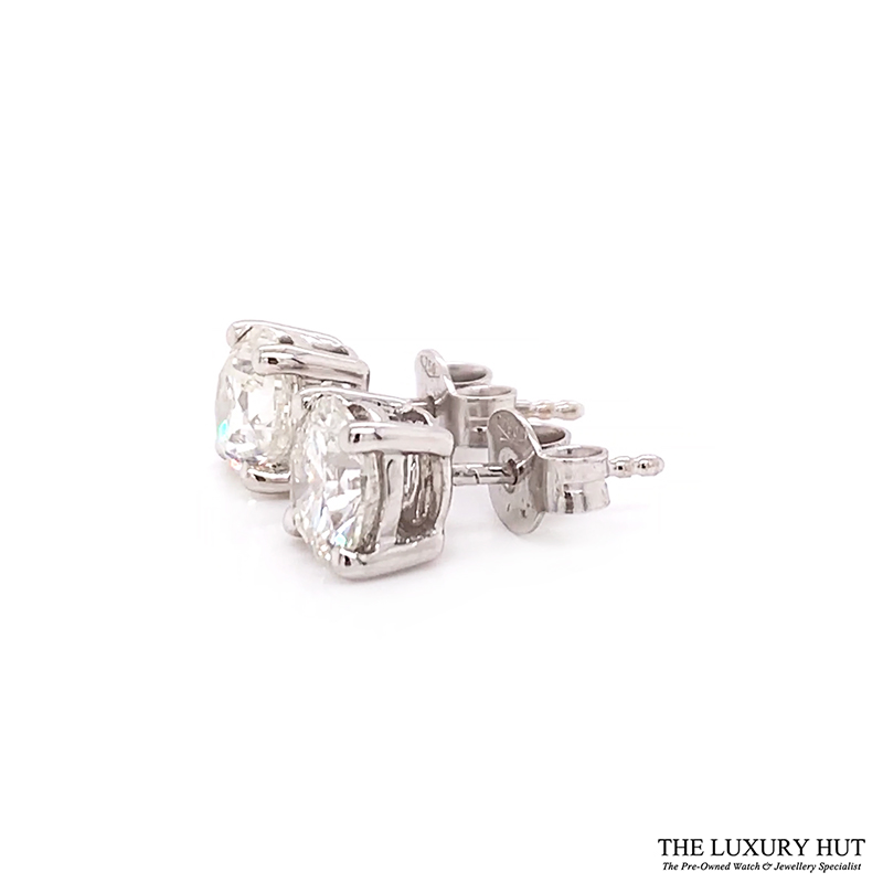 ct White Gold 2.21ct Brilliant Cut Diamond Earrings Order Online Today For Next Day Delivery - Sell
