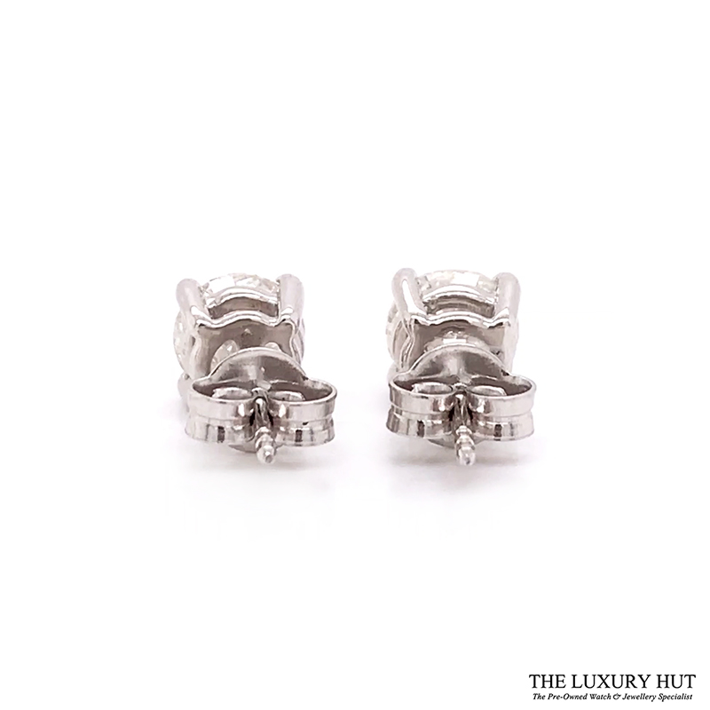 ct White Gold 2.21ct Brilliant Cut Diamond Earrings Order Online Today