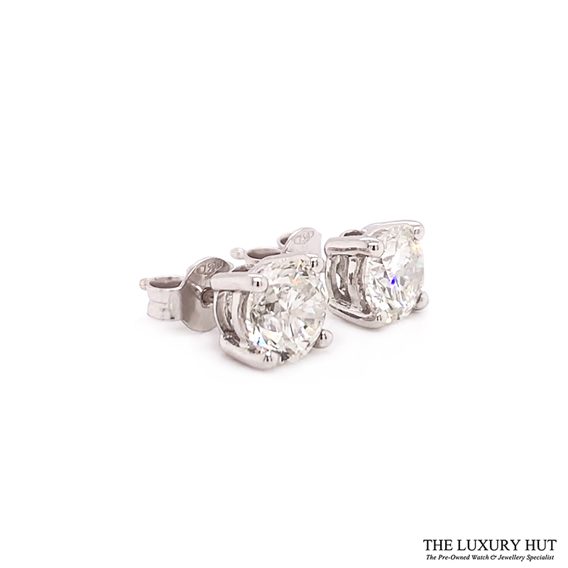 ct White Gold 2.21ct Brilliant Cut Diamond Earrings Order Today