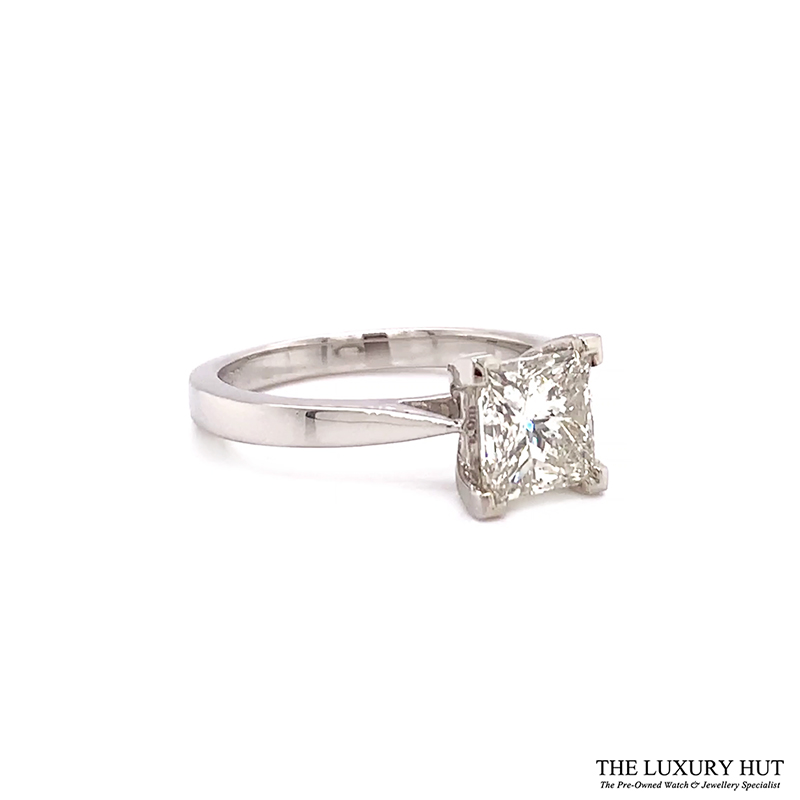 Platinum 1.69ct Princess Cut Diamond Solitaire Engagement Ring Order Online